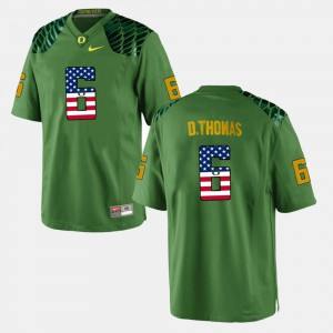 Men's US Flag Fashion University of Oregon #6 De'Anthony Thomas college Jersey - Green