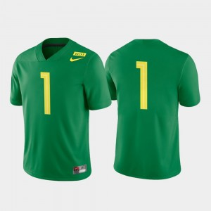 Men Football Game #1 Oregon college Jersey - Apple Green