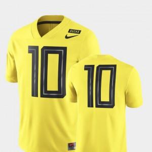 Mens Oregon Ducks 2018 Mighty Oregon Football Game #10 college Jersey - Yellow