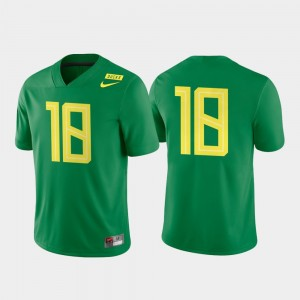 Men Game Authentic #18 UO Football college Jersey - Apple Green