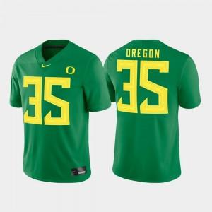 Men Game #35 University of Oregon college Jersey - Green