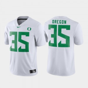 Mens #35 Game Oregon Football college Jersey - White