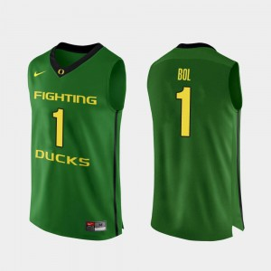 Men Basketball #1 Oregon Ducks Authentic Bol Bol college Jersey - Apple Green