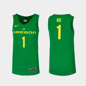 Men's #1 Ducks Basketball Replica Bol Bol college Jersey - Green