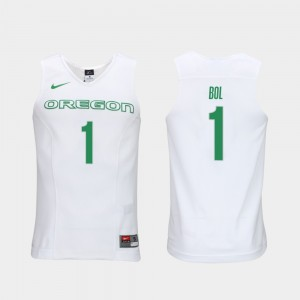Mens UO #1 Elite Authentic Performance Basketball Authentic Performace Bol Bol college Jersey - White