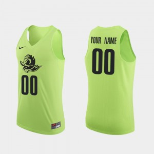 Men's Basketball #00 Authentic Oregon college Customized Jerseys - Apple Green