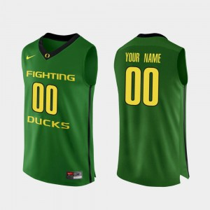 Men's #00 Ducks Basketball Authentic college Custom Jersey - Apple Green