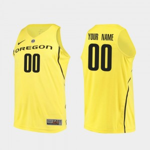 Men's Basketball #00 UO Authentic college Custom Jersey - Yellow