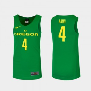 Men Replica Basketball #4 UO Ehab Amin college Jersey - Green