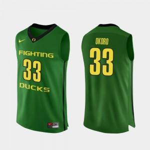 Men Authentic Basketball #33 Oregon Duck Francis Okoro college Jersey - Apple Green