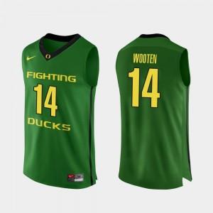Men's #14 Authentic Oregon Duck Basketball Kenny Wooten college Jersey - Apple Green