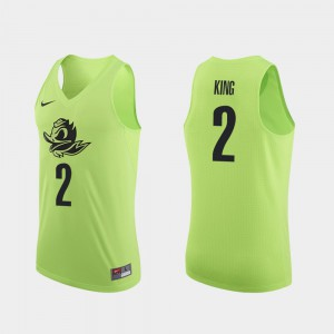 Men UO Basketball #2 Authentic Louis King college Jersey - Apple Green