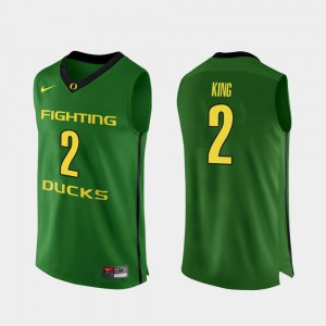 Mens Ducks Basketball #2 Authentic Louis King college Jersey - Apple Green