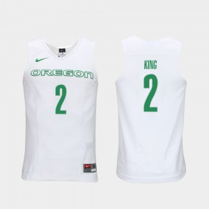 Mens Elite Authentic Performance Basketball UO Authentic Performace #2 Louis King college Jersey - White