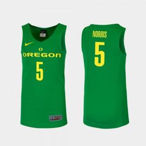 Men's UO Basketball #5 Replica Miles Norris college Jersey - Green