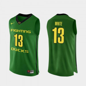 Men #13 Paul White college Jersey - Apple Green Authentic Basketball Oregon Ducks