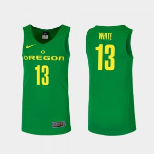 Mens Basketball Replica #13 University of Oregon Paul White college Jersey - Green