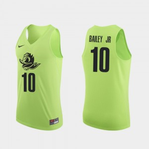 Men UO Basketball #10 Authentic Victor Bailey Jr. college Jersey - Apple Green
