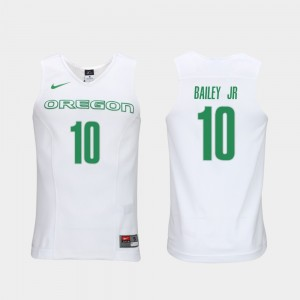 Men's Elite Authentic Performance Basketball Authentic Performace Oregon #10 Victor Bailey Jr. college Jersey - White