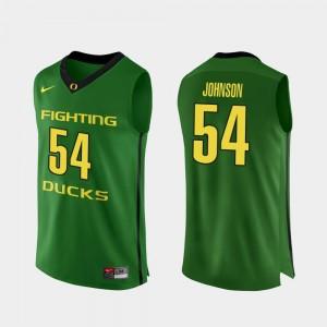 Men Authentic Oregon Ducks Basketball #54 Will Johnson college Jersey - Apple Green
