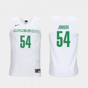 Men Oregon Duck #54 Elite Authentic Performance Basketball Authentic Performace Will Johnson college Jersey - White