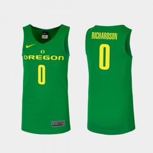 Men #0 Oregon Ducks Replica Basketball Will Richardson college Jersey - Green