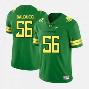 Men's #56 Oregon Duck Football Alex Balducci college Jersey - Green