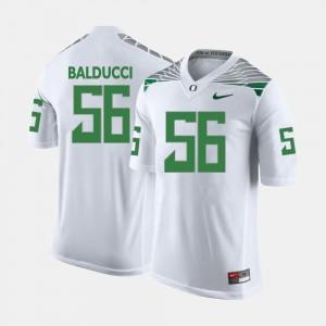 Men's #56 Oregon Duck Football Alex Balducci college Jersey - White