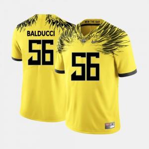 Men University of Oregon Football #56 Alex Balducci college Jersey - Yellow