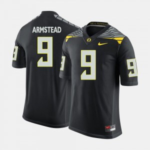 Men UO Football #9 Arik Armstead college Jersey - Black