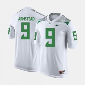 Men's Football #9 Oregon Ducks Arik Armstead college Jersey - White