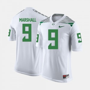 Mens Football #9 UO Byron Marshall college Jersey - White