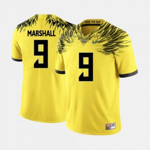 Men #9 Oregon Ducks Football Byron Marshall college Jersey - Yellow