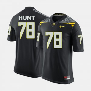 Men's University of Oregon #78 Football Cameron Hunt college Jersey - Black