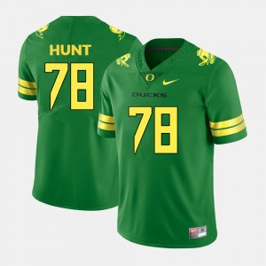 Men's #78 Football Oregon Cameron Hunt college Jersey - Green