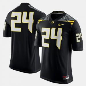 Men Football #24 Ducks college Jersey - Black