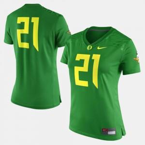Women Football University of Oregon #21 college Jersey - Green