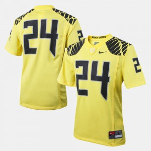 Youth(Kids) Oregon Duck #24 Football college Jersey - Yellow