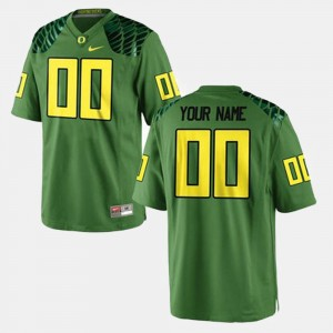 Men Oregon Football #00 college Custom Jersey - Green