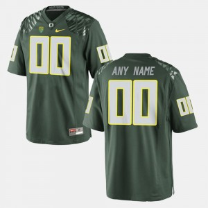 Men's #00 University of Oregon Limited Football college Custom Jersey - Green