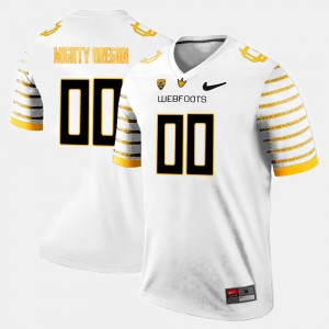 Men Oregon Ducks #00 Limited Football college Custom Jersey - White
