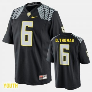 Kids #6 De'Anthony Thomas college Jersey - Black Football University of Oregon