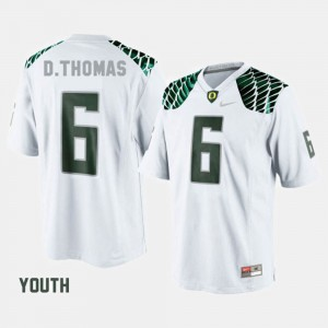 Kids Football #6 University of Oregon De'Anthony Thomas college Jersey - White
