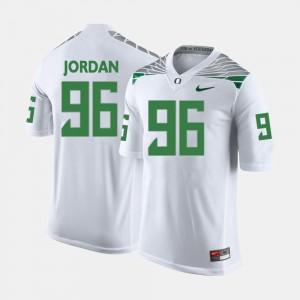 Men's #96 Oregon Ducks Football Dion Jordan college Jersey - White