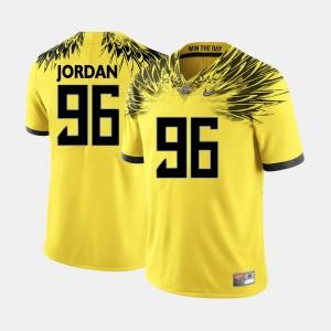 Men's #96 Oregon Ducks Football Dion Jordan college Jersey - Yellow