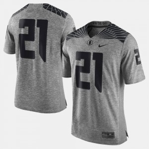 Men Gridiron Gray Limited UO Gridiron Limited #21 college Jersey - Gray