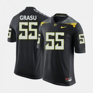Men's Football #55 Oregon Hroniss Grasu college Jersey - Black