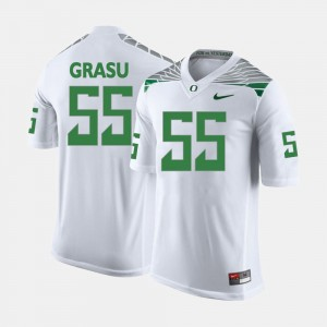 Men #55 Hroniss Grasu college Jersey - White Football Oregon Duck