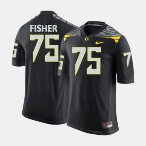 Men Oregon Football #75 Jake Fisher college Jersey - Black