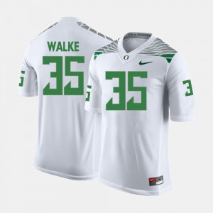 Men #35 Football University of Oregon Joe Walker college Jersey - White